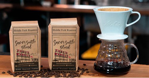 Savor Seattle Blend. Iconic Market Box, Pike Place Market